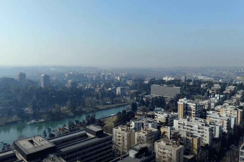 Riprese con Drone - Nuvola di Fuksas